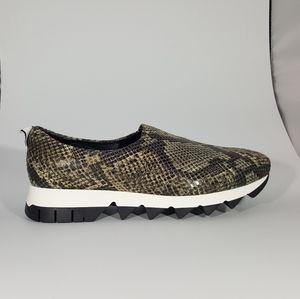 NR Rapisardi Faux Snake Print Slip On Sneaker
